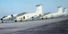 Photo of 116 ATU aircraft in Beirut from F/L Don Fish.  Photo shows the three Buffalo aircraft on the ramp at Beirut Airport on 27 July 1974 (from left to right Buffalo 452, 460, and 461) - two weeks before 461 was shot down.  These aircraft also flew in support of Peacekeeping in Cyprus.