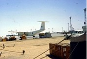 Photograph from Joe Thibedeau of 116 ATU. Joe flew Buffalo 461 to Cairo in January 1974.  Photograph taken at Cairo during first couple of months of 116 ATU operation.
